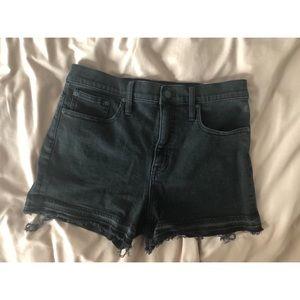 Madewell Black High Rise Denim Shorts
